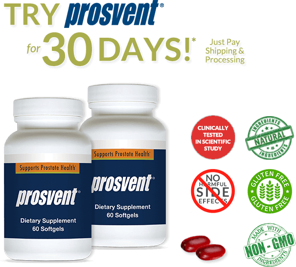 Try Prosvent for 30 days! Just Pay Shipping & Processing